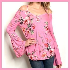 🌸NEW ARRIVAL🌸FLORAL BELL SLEEVE TOP-NEW S-XL